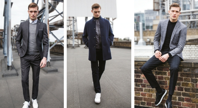 how to wear trainers with suit