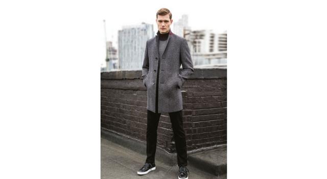 roll neck sweater coat