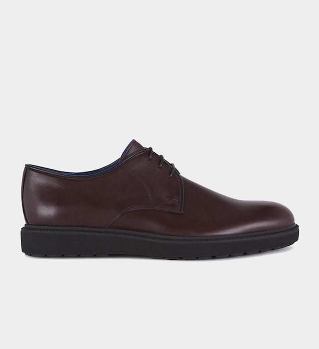 men's wedge sole burgundy shoe