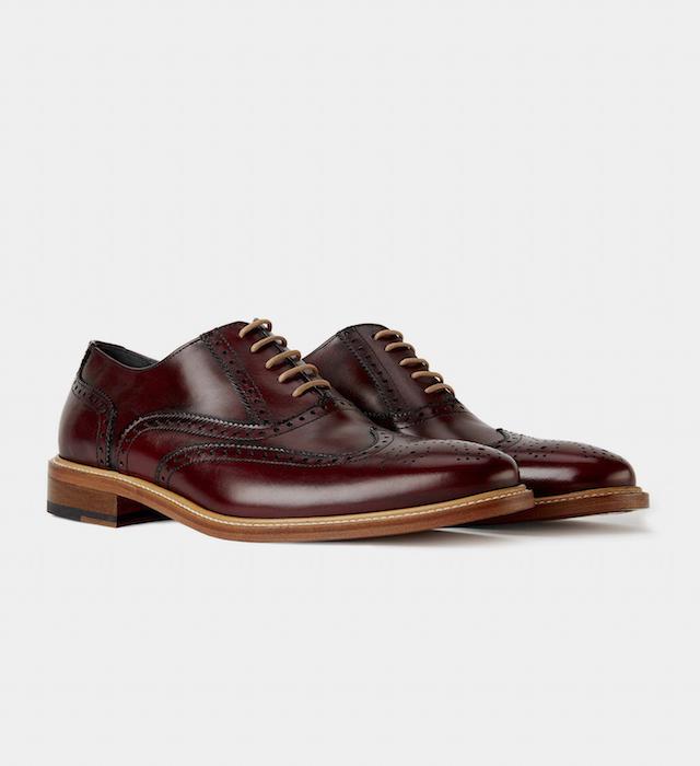 mens burgundy brogue shoe