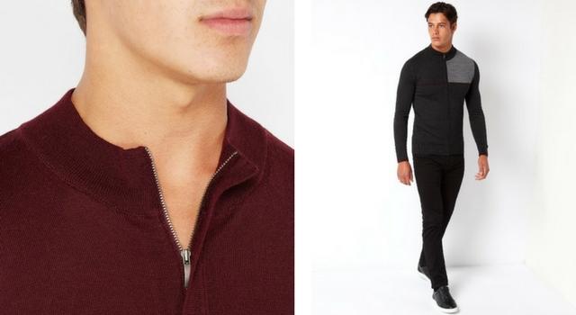 Full-Zip & Half-Zip Sweaters