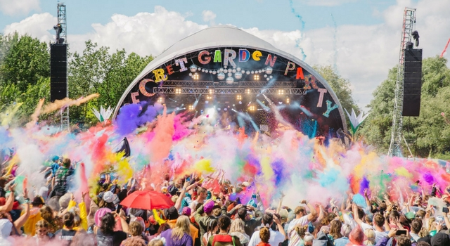 Bringing life to a muddy festival at the Secret Garden Party