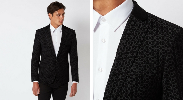 Slim Fit Wool-Blend Smoking Jacket