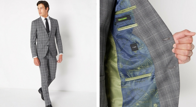 X-Slim Fit Checked Wool-Rich Mix n Match Suit