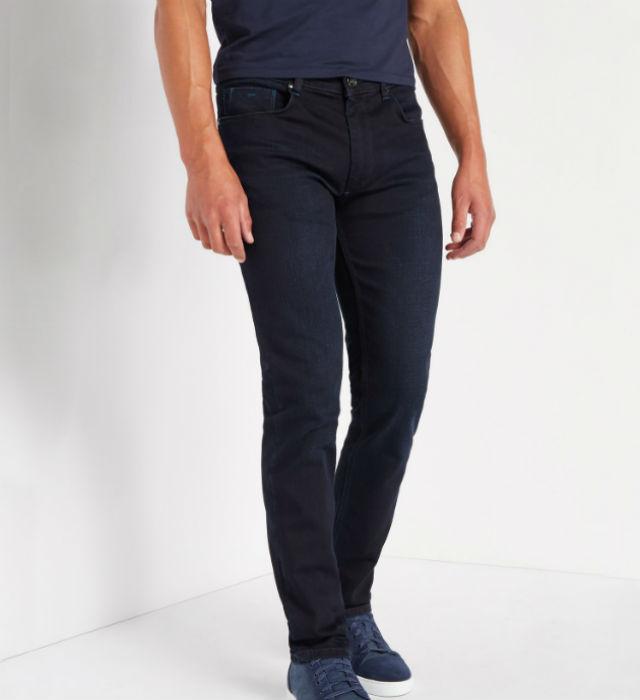 Slim Leg Indigo Stretch-Denim Jean