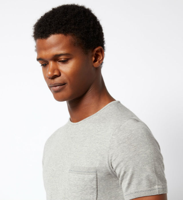 Knitted Cotton Crew Neck T-Shirt